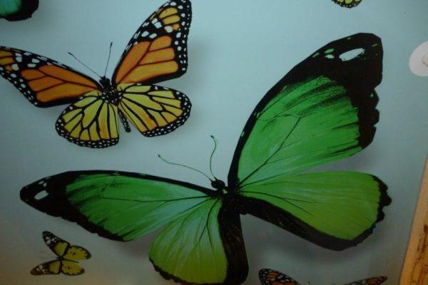 натяжной потолок с бабочками вид 3