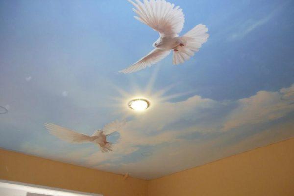 натяжной потолок с изображением