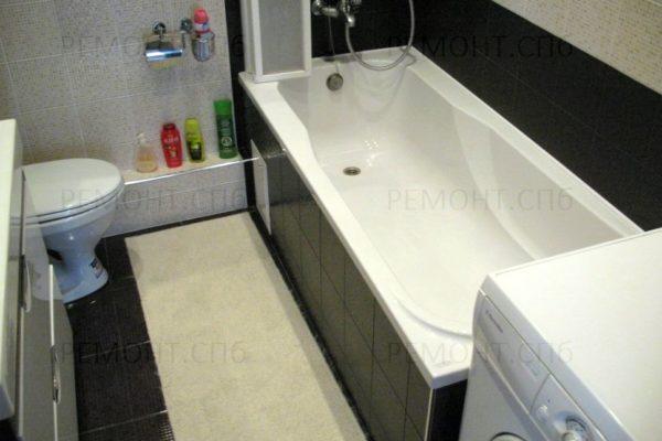евроремонт в ванной комнате ч/б
