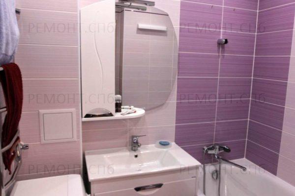 ремонт ванной комнаты в розовом цвете