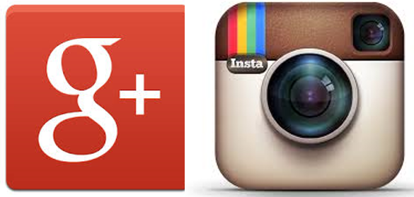 логотипы инстаграм и гугл+
