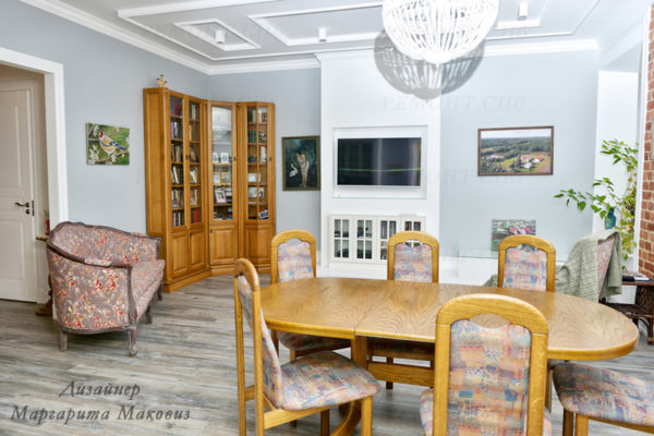 Евроремонт квартиры на саблинской гостиная команта вид 3