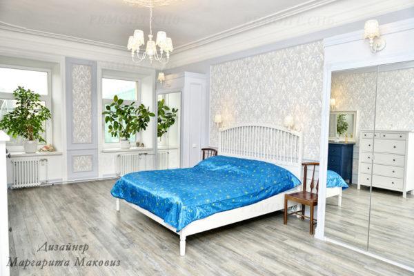 Евроремонт квартиры на саблинской спальня вид 5