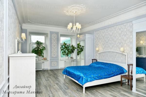 Евроремонт квартиры на саблинской спальня вид 4