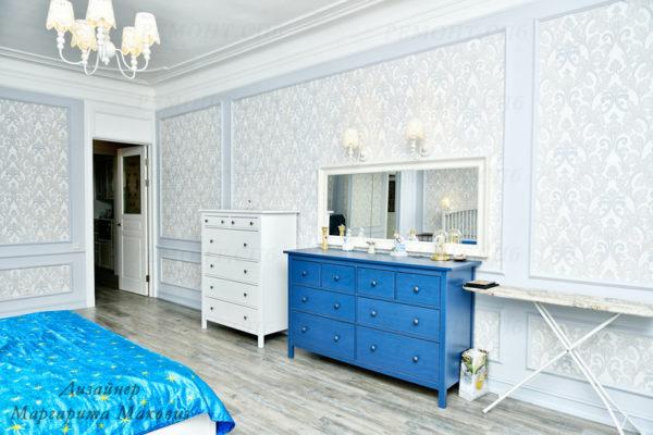 Евроремонт квартиры на саблинской спальня вид 2