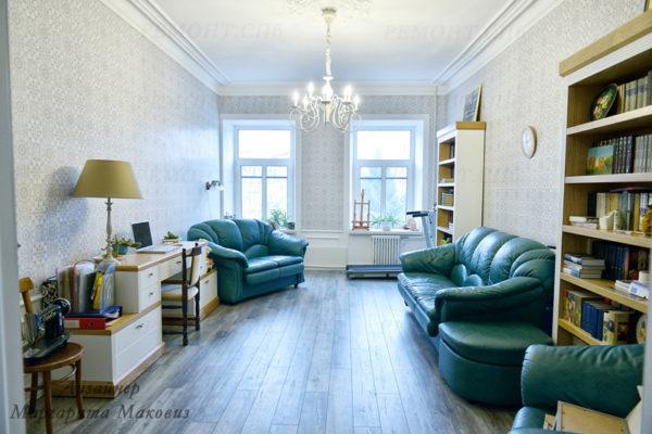 Евроремонт квартиры на саблинской гостиная вид 3