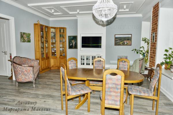 Евроремонт квартиры на саблинской гостиная команта вид 5