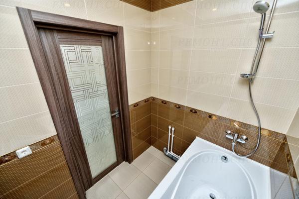 Ремонт ванной комнаты бежевый цвет