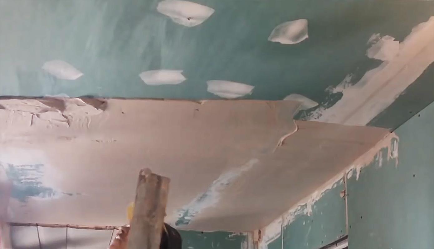 штукатурка потолка без маяков