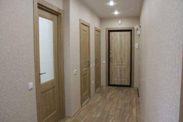 фото капитального ремонта квартиры на ул. Кустодиева д.12 минимализм в прихожей