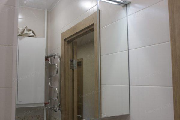 фото капитального ремонта квартиры на ул. Кустодиева д.12 ремонт ванной комнаты