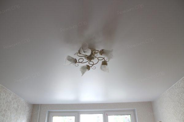 фото капитального ремонта квартиры на ул. Кустодиева д.12 люстра в комнате