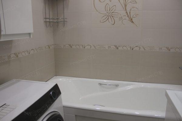 фото капитального ремонта ванной комнаты в квартире на ул. Кустодиева д.12