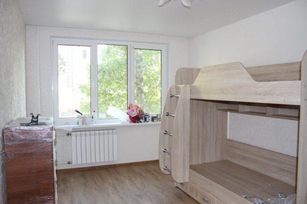 фото капитального ремонта квартиры на ул. Кустодиева д.12 установка мебели в детской