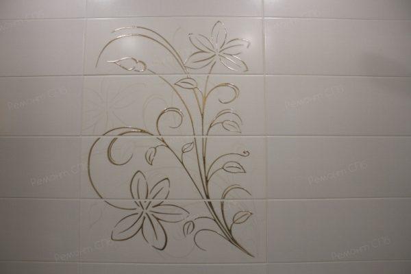 фото капитального ремонта квартиры на ул. Кустодиева д.12 дизайн в ванной комнате