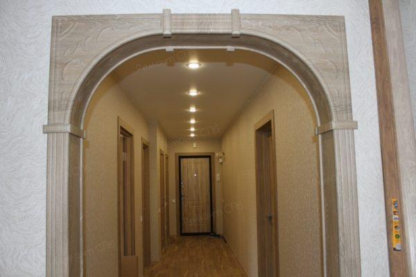 фото капитального ремонта квартиры на ул. Кустодиева д.12 установка межкомнатных дверей
